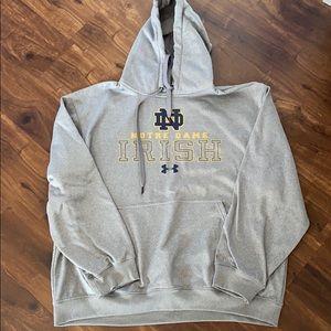 UA Notre Dame storm hoodie men's XL